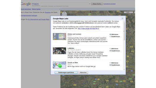 Google Maps mit neuen Funktionen.