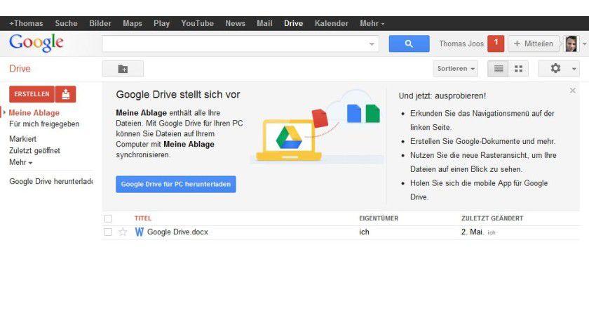 Direkt: So sieht ein Dateizugriff im Browser innerhalb von Google Drive aus.