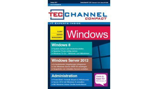 TecChannel Compact 01/2013: Über 160 Seiten zu Windows 8 und Windows Server 2012.