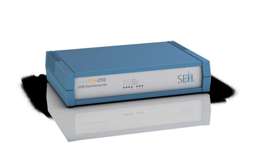 myUTN-250 USB Device Server: Mit dem Gerät lassen sich drei USB-Geräte sicher ins Firmennetz integrieren.