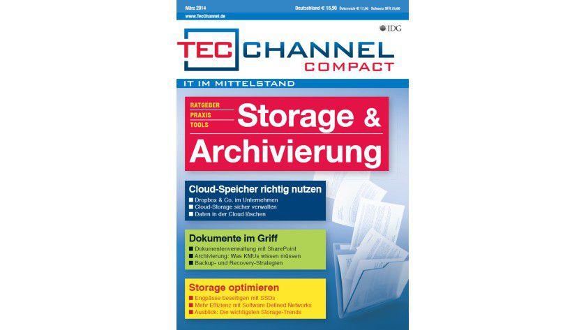 TecChannel Compact 02/2014: Auf über 160 Seiten werden die Bereiche Cloud-Speicher, Dokumente verwalten und Storage optimieren behandelt.