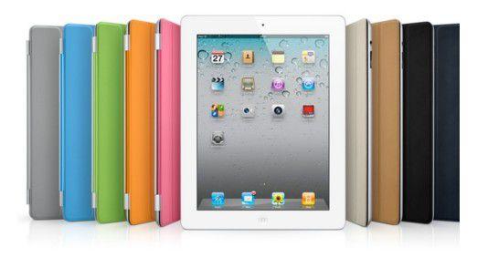 Das Apple iPad 2 mit den verschiedenen Ausführungen vom Apple iPad Smart Cover.