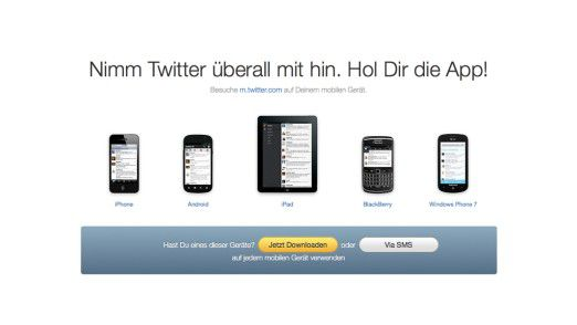 Twitter-App für nahezu alle gängigen Mobil-OS-Versionen