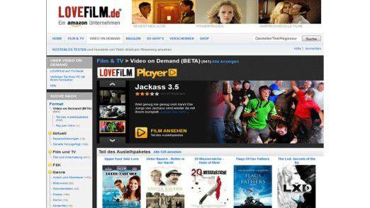 Internet-Videothek und Stream-Service in einem: Lovefilm lässt die Herzen von Filmliebhabern höher schlagen. Leider ist das Streaming-Angebot bisher noch etwas dürftig.