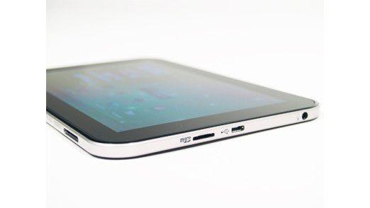 Ganz flach: Das Toshiba AT270 ragt nur 7,8 Millimeter hoch.