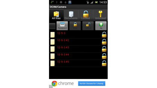 Die App File Locker verschlüsselt Dateien und ganze Ordner.