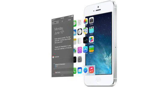 iOS 7 organisiert die Bildschirminhalte in verschiedenen Ebenen, die es auf Input der Sensoren hin animiert.