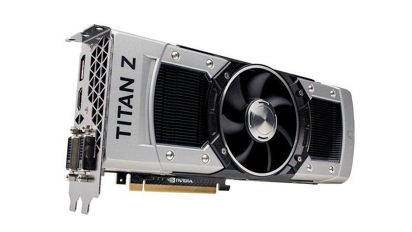 Dual-GPU-Grafikkarte: Die Geforce GTX Titan Z verfügt über zwei GK110-Grafikchips.