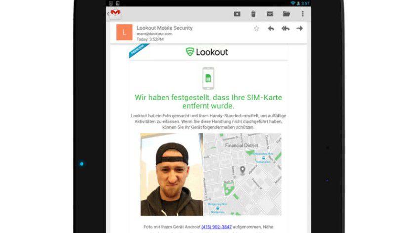 Lookout-App schießt Foto von Smartphone-Dieb (c) Lookout