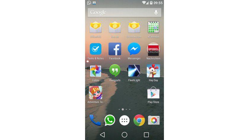 Alles frisch: Android L bietet eine neue Oberfläche und neue Steuerungsbuttons.