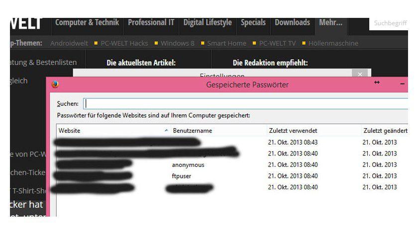 Firefox 32 mit verbessertem Passwort-Manager