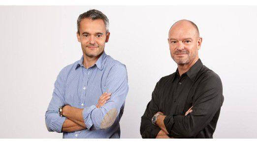 Jeder kann kreativ sein! Die beiden Autoren Jiri Scherer (li.) und Chris Brügger machen mit ihrem Buch 'Denkmotor' vor, wie es geht.