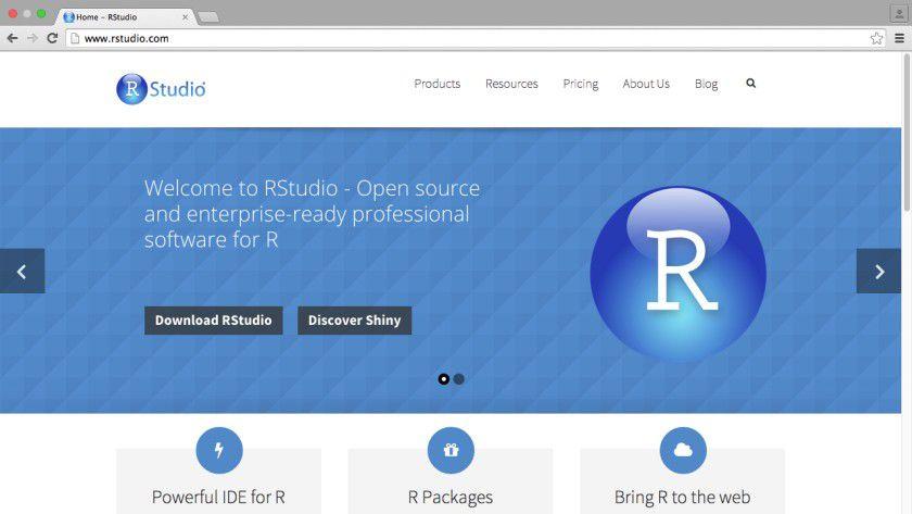 Mit RStudio lassen sich (Web-)Anwendungen in R entwickeln.