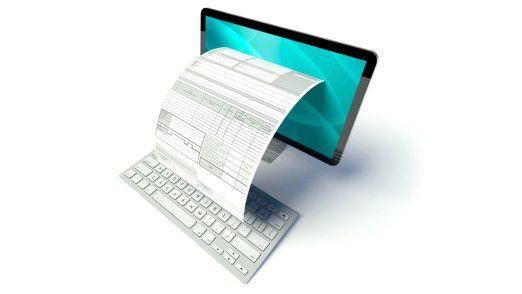 Noch hat sich die elektronische Rechnung nicht durchgesetzt, obwohl sie viele Vorteile bietet.
