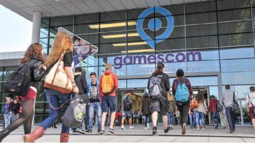 Eingang zur Gamescom in Köln