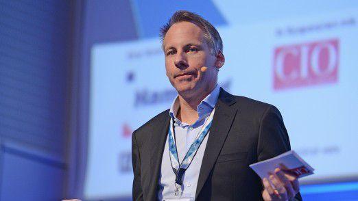 Daniel Keller, hier im Februar auf den Hamburger IT-Strategietagen 2015, übernimmt neue Aufgaben im Konzern.
