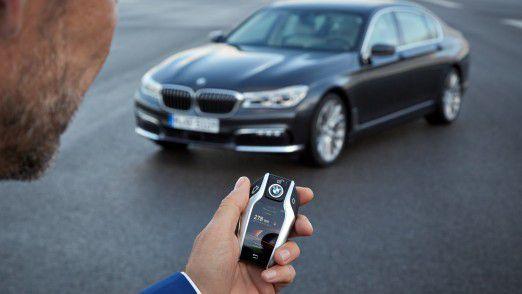Der neue Display-Schlüssel für den BMW 7er.