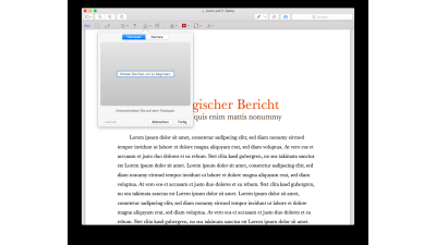 Mac OS X - PDF per TrackPad unterschreiben - Foto: Lukas Leitsch