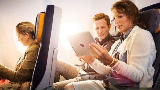 Lufthansa hat die Nachfrage nach digitalen Angeboten in den Flugzeugen erkannt.