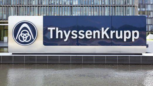 ThyssenKrupp profitiert von der Erholung der Stahlpreise.