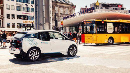 Der elektrisch angetriebene BMW i3 von DriveNow.
