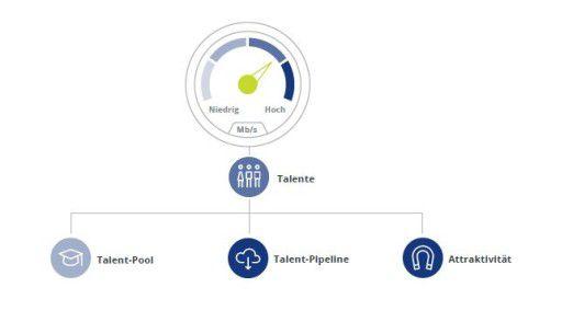 Den Punkt Talente unterteilt Deloitte in drei Einzelkategorien.