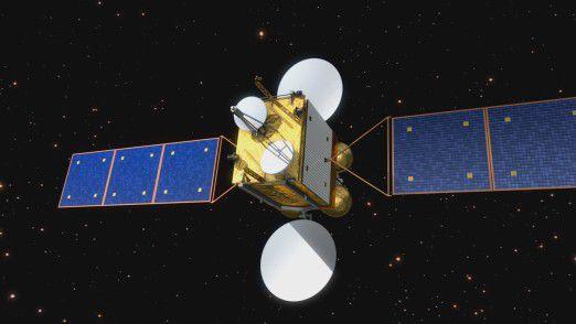 Künstlerische Darstellung eines SmallGEO-Satelliten