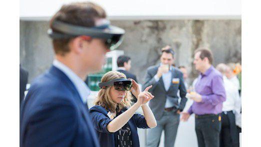 Die Besucher konnten virtuelle Welten ausprobieren.