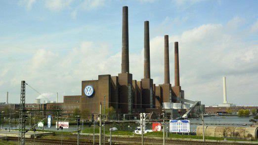 Blick auf das Volkswagen-Werk in Wolfsburg.