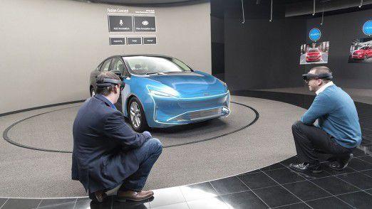 Hologramme beim Fahrzeug-Design: Ford testet HoloLens-Technologie von Microsoft.