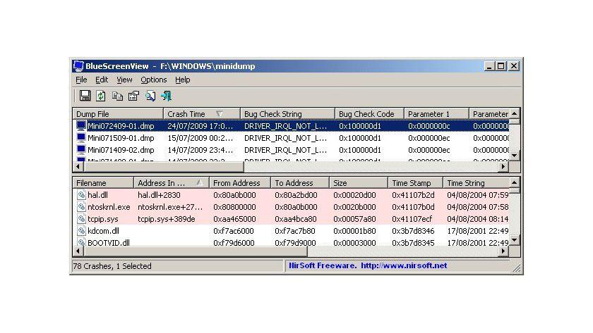Bluescreens von Windows sind oft kryptisch. Dieses Tool zeigt die enthaltenen Infos übersichtlicher.