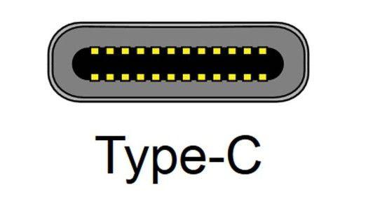 USB Typ C: Querschnitt einer Anschlussbuchse