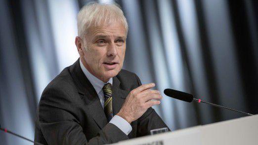 Matthias Müller, Vorstandsvorsitzender der Volkswagen AG, verdient künftig maximal zehn Millionen Euro pro Jahr.