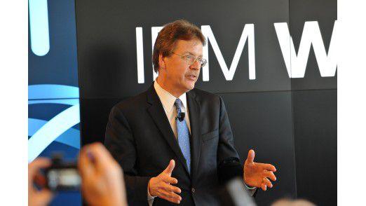"""""""Wenn IBM wettet, dann gleich mit hohem Einsatz"""", so John Kelly, Senior Vice President für Cognitive Solutions and Research bei IBM, zur Standortwahl München."""