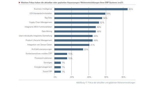 Vor allem BI-Funktionen stehen im Fokus der ERP-Hersteller.