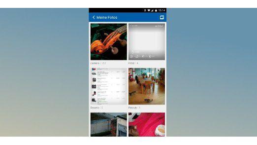 """Im Ordner """"Meine Fotos"""" finden Sie alle Bilder, die von Apps gespeichert werden. Darunter sind Screenshots, Bilder in Messengern nund Downloads."""