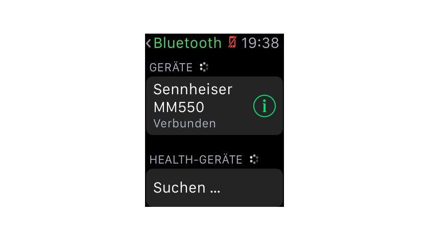 Der Musikplayer benötigt ein Bluetooth-Headset.