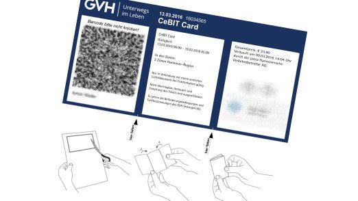 Wer die CeBIT Card zum Ausdrucken bei der GVH bestellt, bekommt eine Bastelanleitung mit dazu.