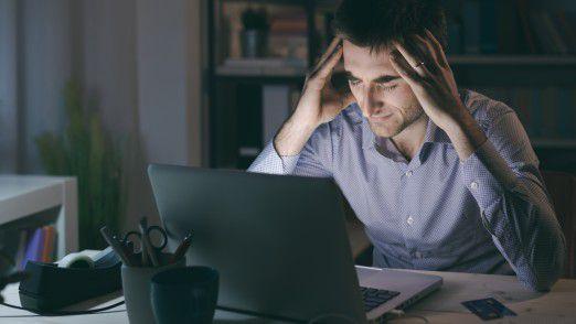 Angestellte fühlen sich gestresster, wenn ständig neue E-Mails in ihrem Posteingang landen.