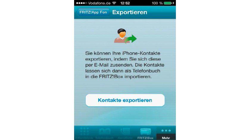 Über die offiziellen Apps exportieren Sie Ihr auf Smartphones gespeichertes Adressbuch, um es auf der Fritzbox einzurichten.
