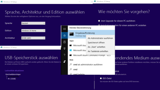 Windows 10 ISO: Windows 10 von USB Stick installieren