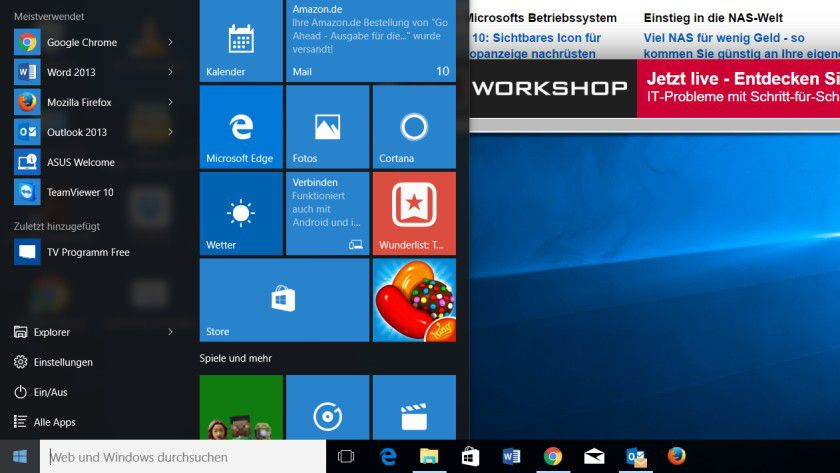 Windows 10: Kacheln des Info-Centers in Windows konfigurieren
