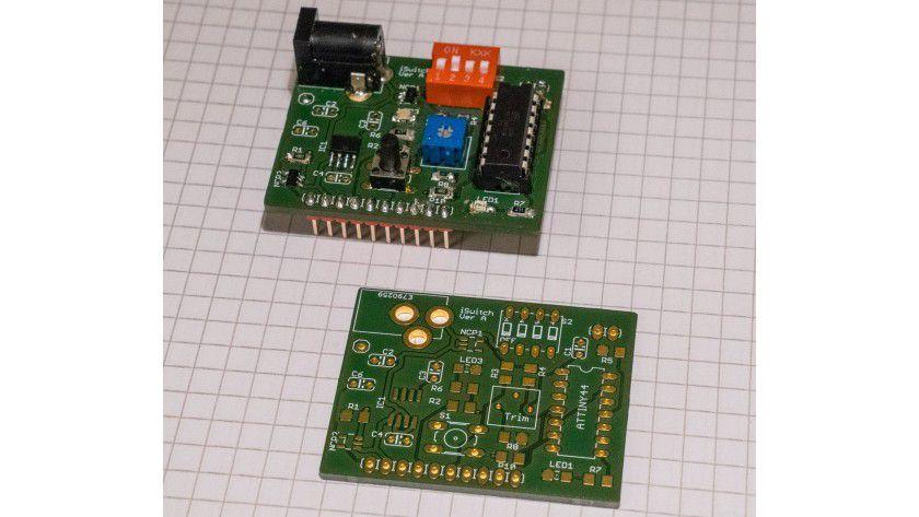 Prototyp iSwitchPi, bereit zum Testen, leeres Board