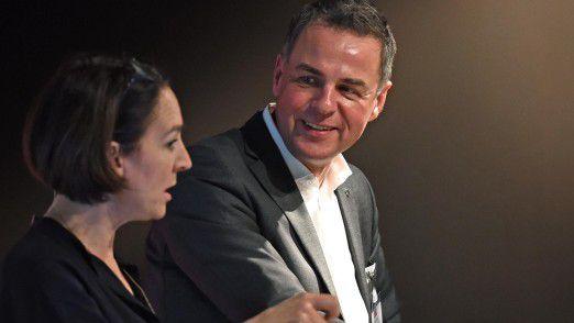 Hubert Hoffmann, CIO von MSC Germany, erklärte Moderatorin Andrea Thilo, warum er auch Ausbildungsleiter ist: So könne er den Spirit der Digital Natives in allen Abteilungen verbreiten.