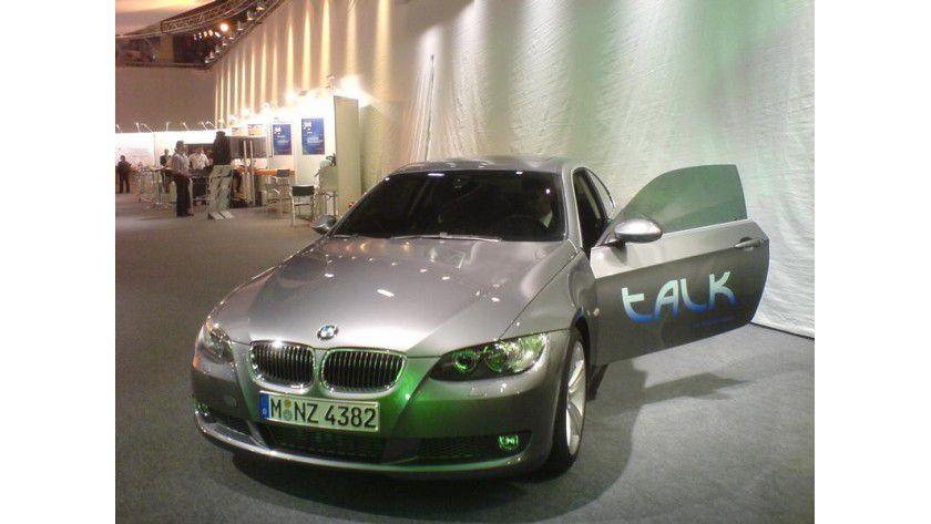 Das sprechende Auto wurde von Computerlinguisten der Universität des Saarlandes und des DFKI gemeinsam mit BMW entwickelt. Foto: Uni Saarland
