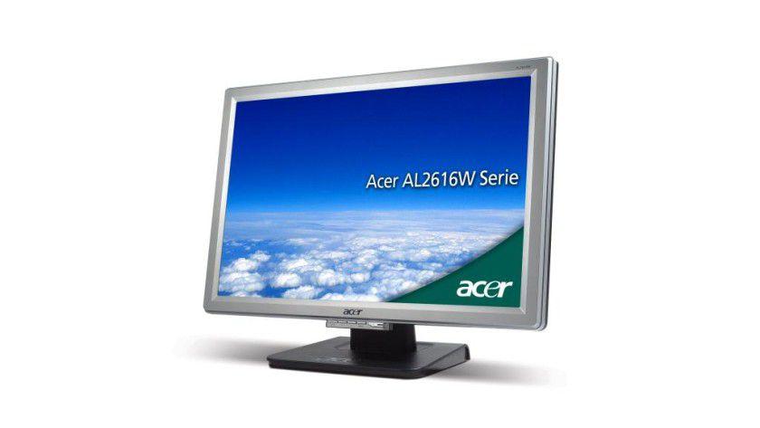Acer AL2616Wsd: Das 26-Zoll-Display arbeitet mit einer Auflösung von 1920 x 1200 Bildpunkten. (Quelle: Acer)