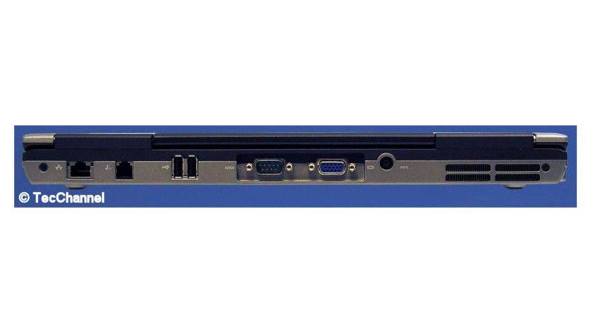 Verbindungssache: Das Latitude D630 bringt neben vier USB-Ports auch eine serielle Schnittstelle mit.