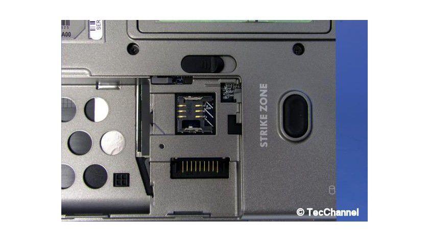 UMTS-vorbereitet: Wer ein HSDPA-Modem ordert, kann die SIM-Karte direkt unter dem Akku einsetzen.
