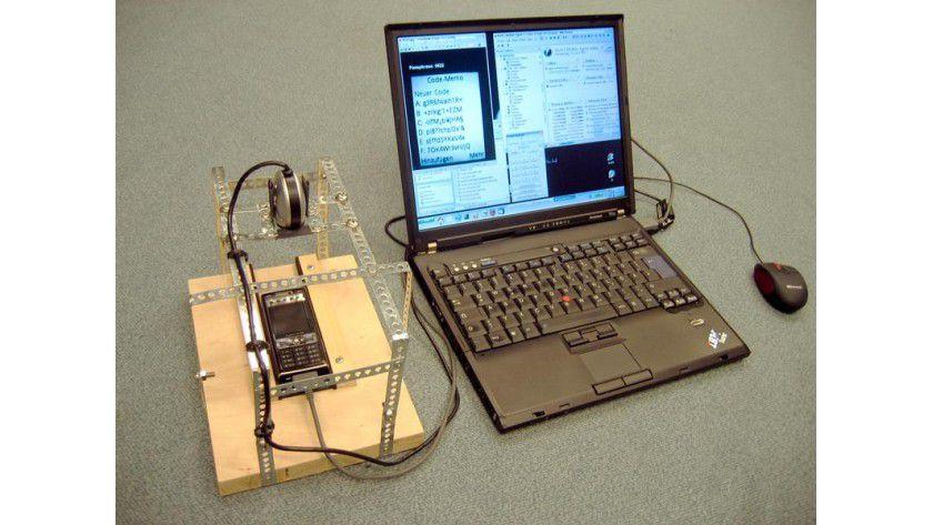 Mit einfachsten Hilfsmitteln wurde Code-Memo ausgetrickst. Foto: Fraunhofer-Institut SIT