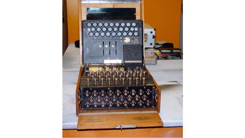 Die historische Enigma galt als nicht entschlüsselbar. Foto: Hochschule Ravensburg-Weingarten